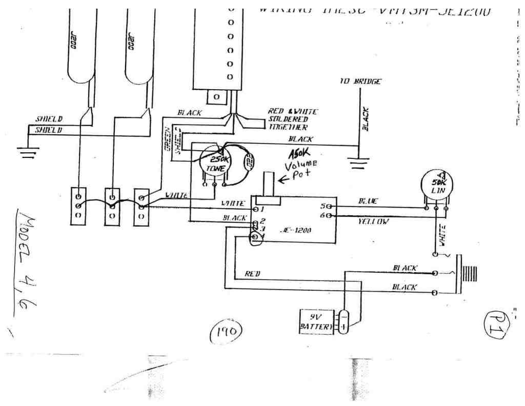 Wiring Diagram For Charvel Model 2