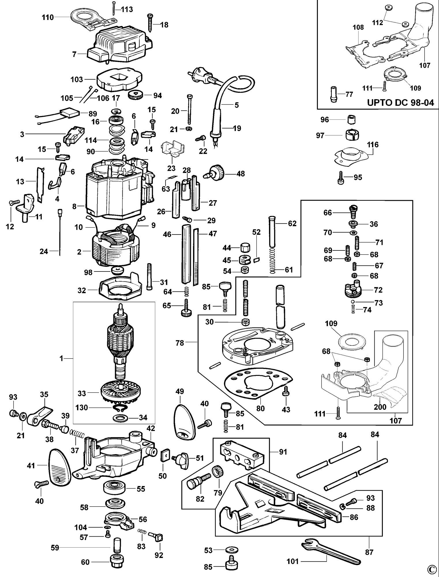 Dewalt D Power Cord Wiring Diagram