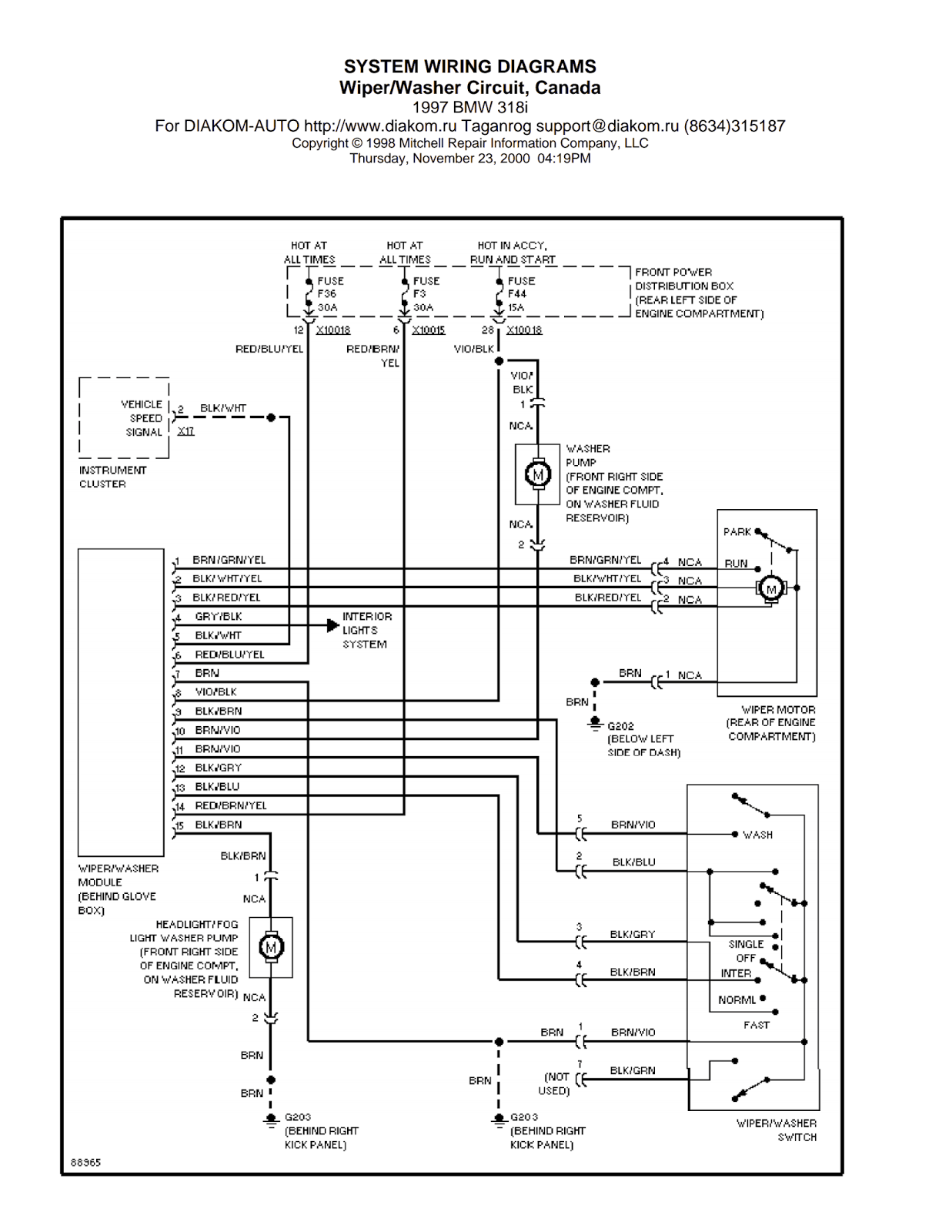 Factory Electrochromatic E38 Wiring Diagram
