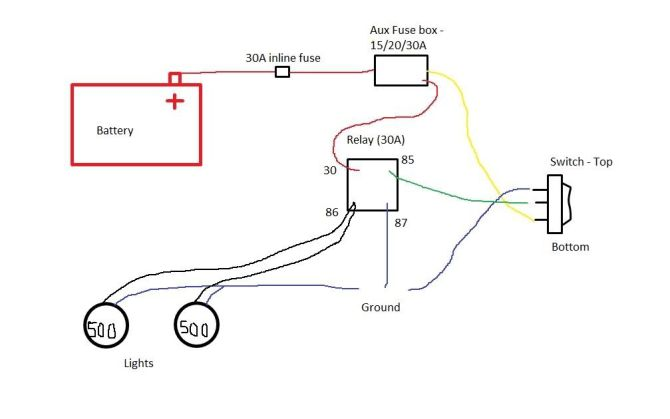 hella fog lights wiring diagram with relay  log splitter