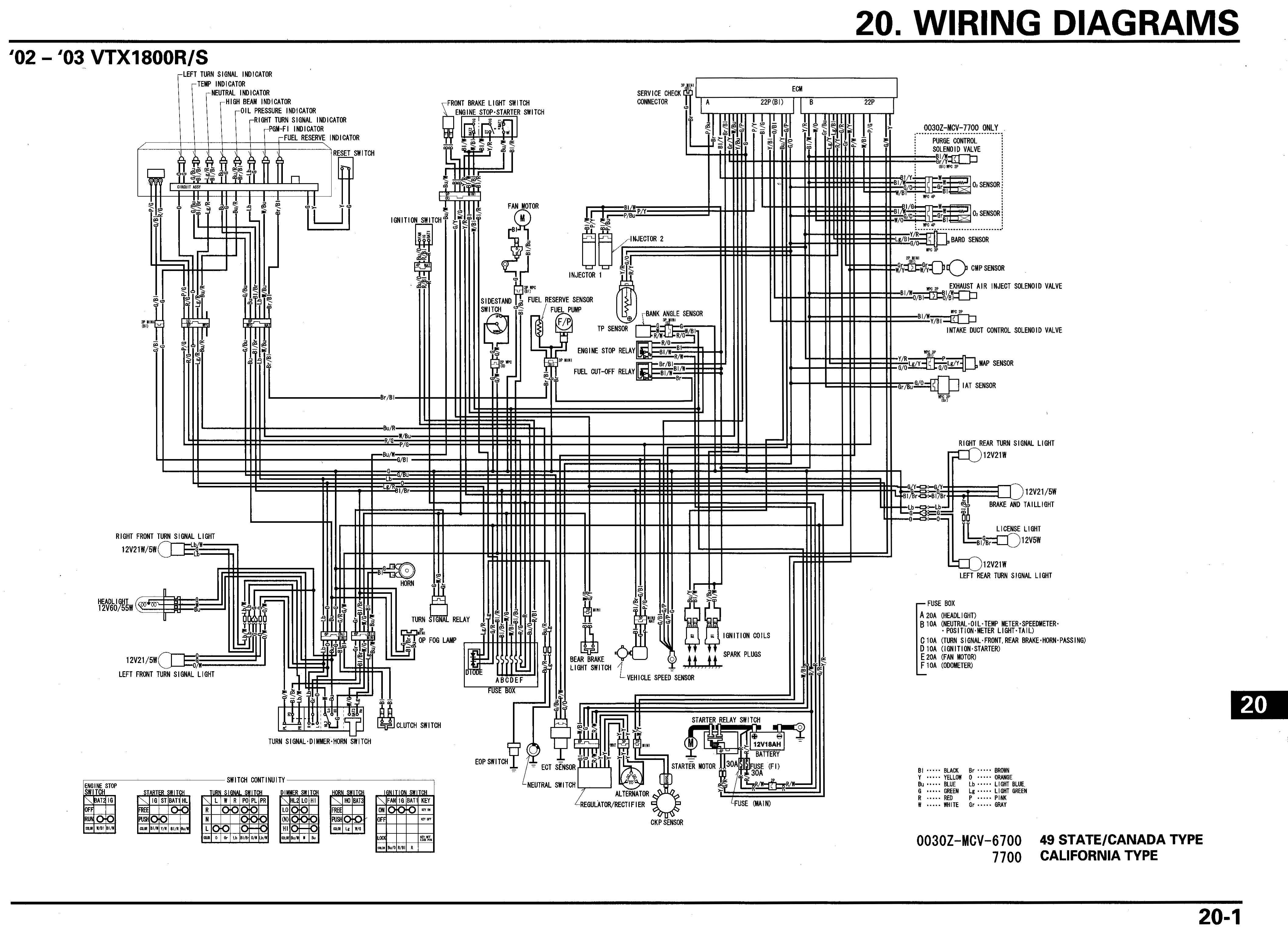 Honda Vtx Headlight Wiring Diagram