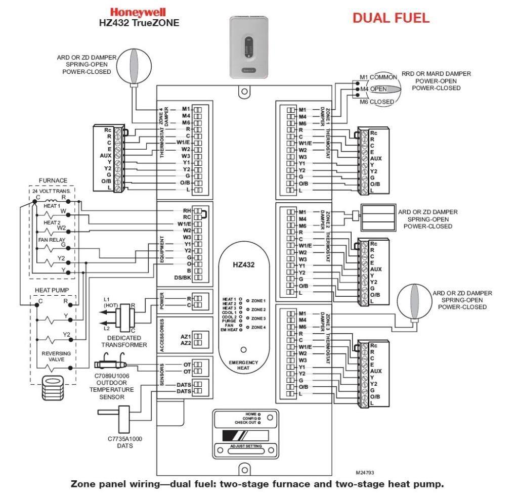 Honeywell T Wiring Diagram