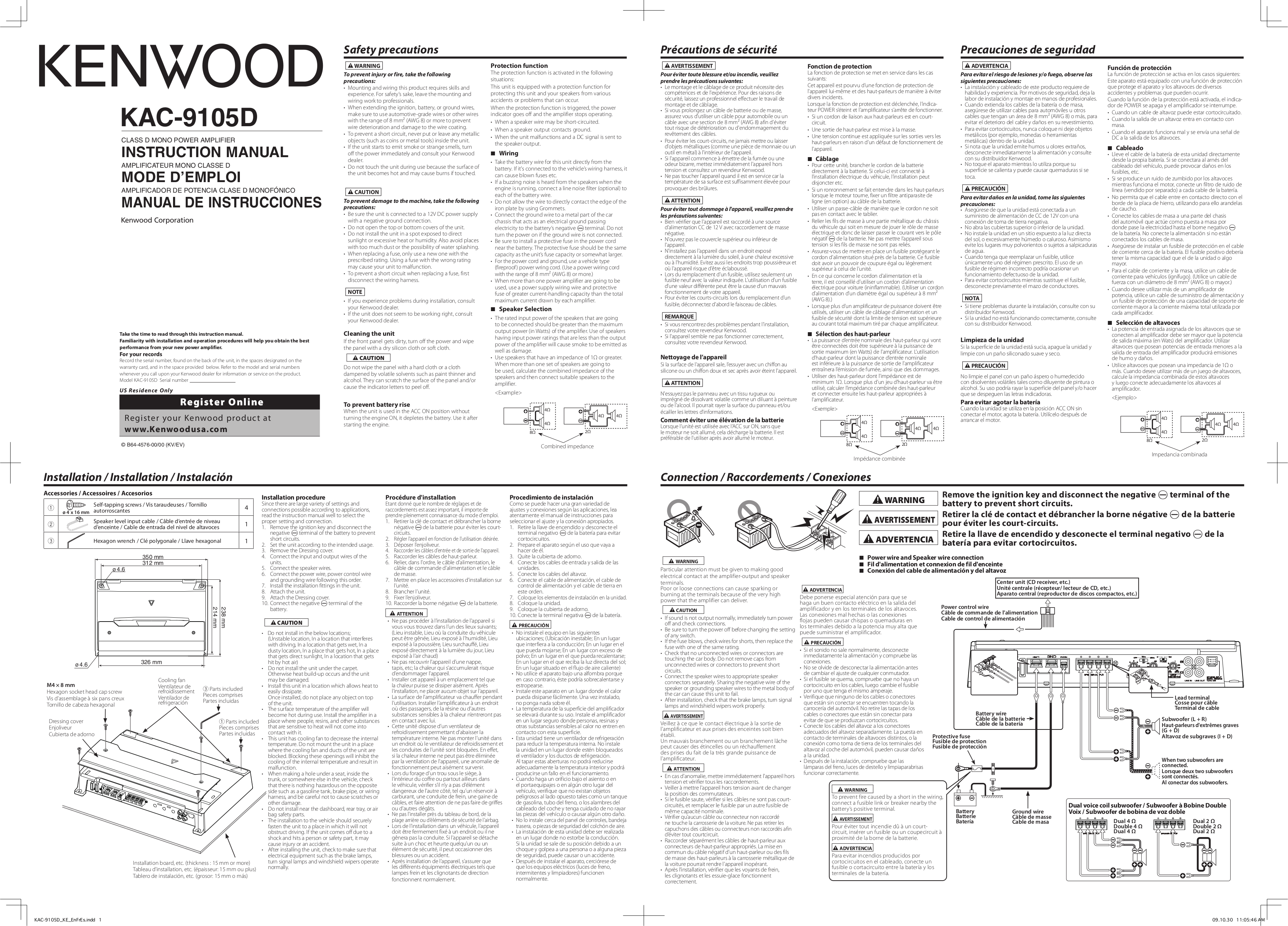 Kenwood D Wiring Diagram Bridged
