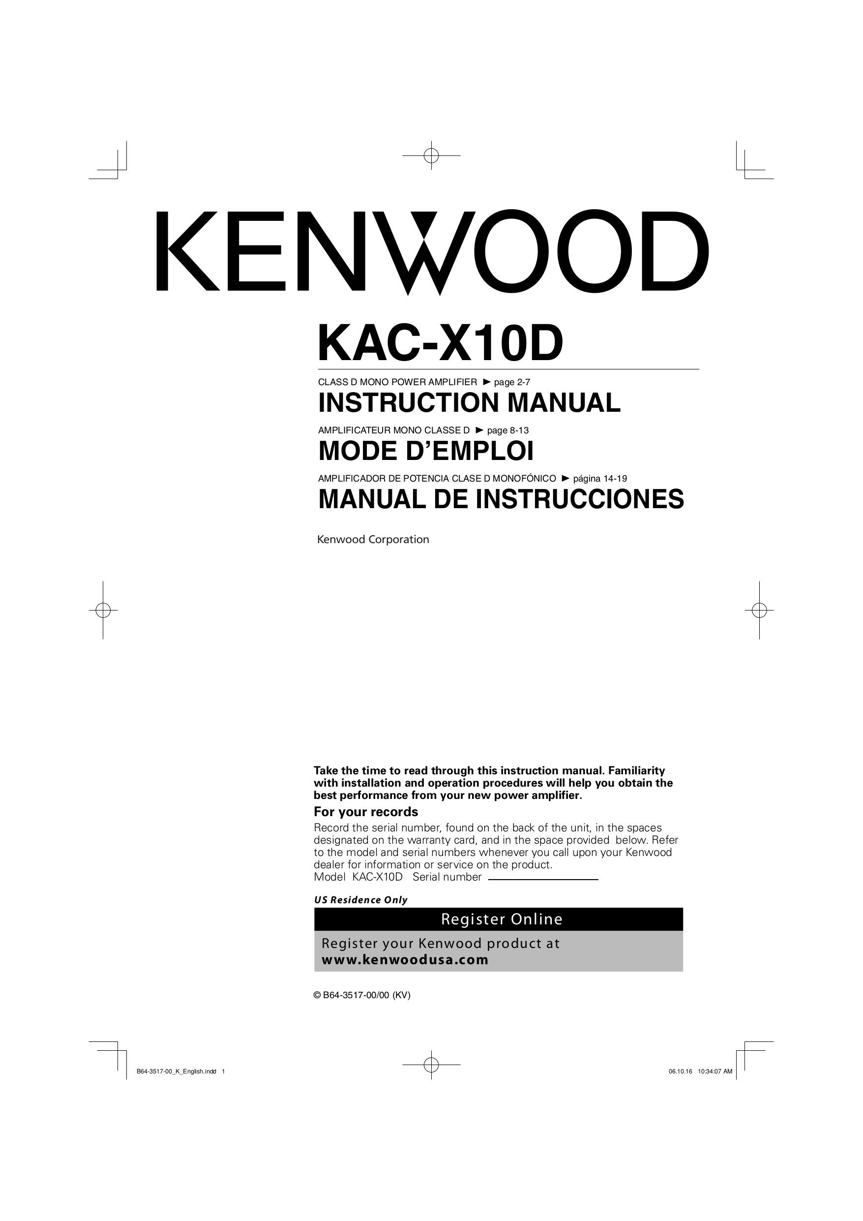 Kenwood Kac 622 Wiring Diagram
