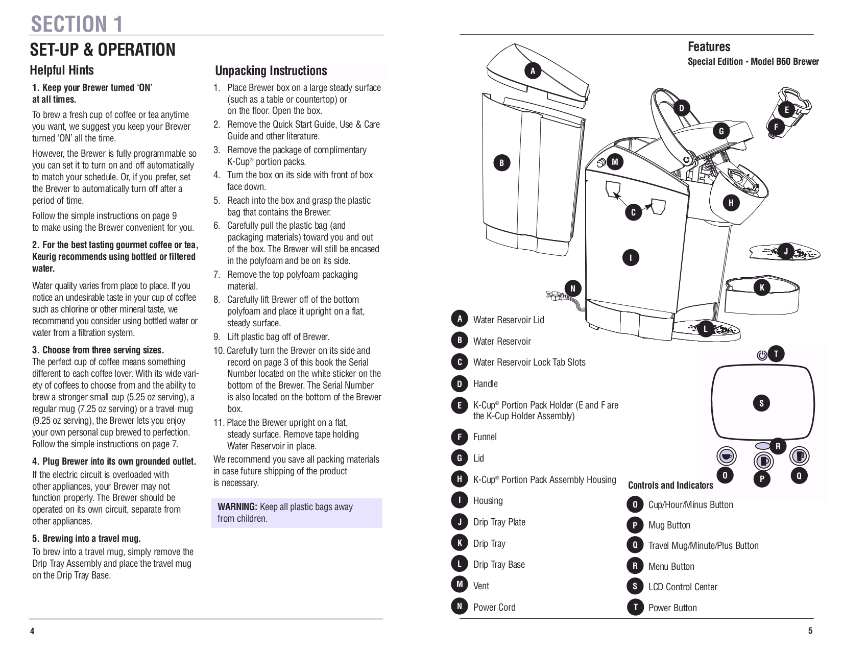 Keurig User Manual B70