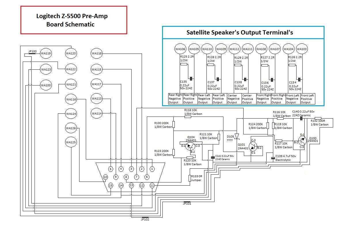 Logitech Z 560 Control Pod Wiring Diagram