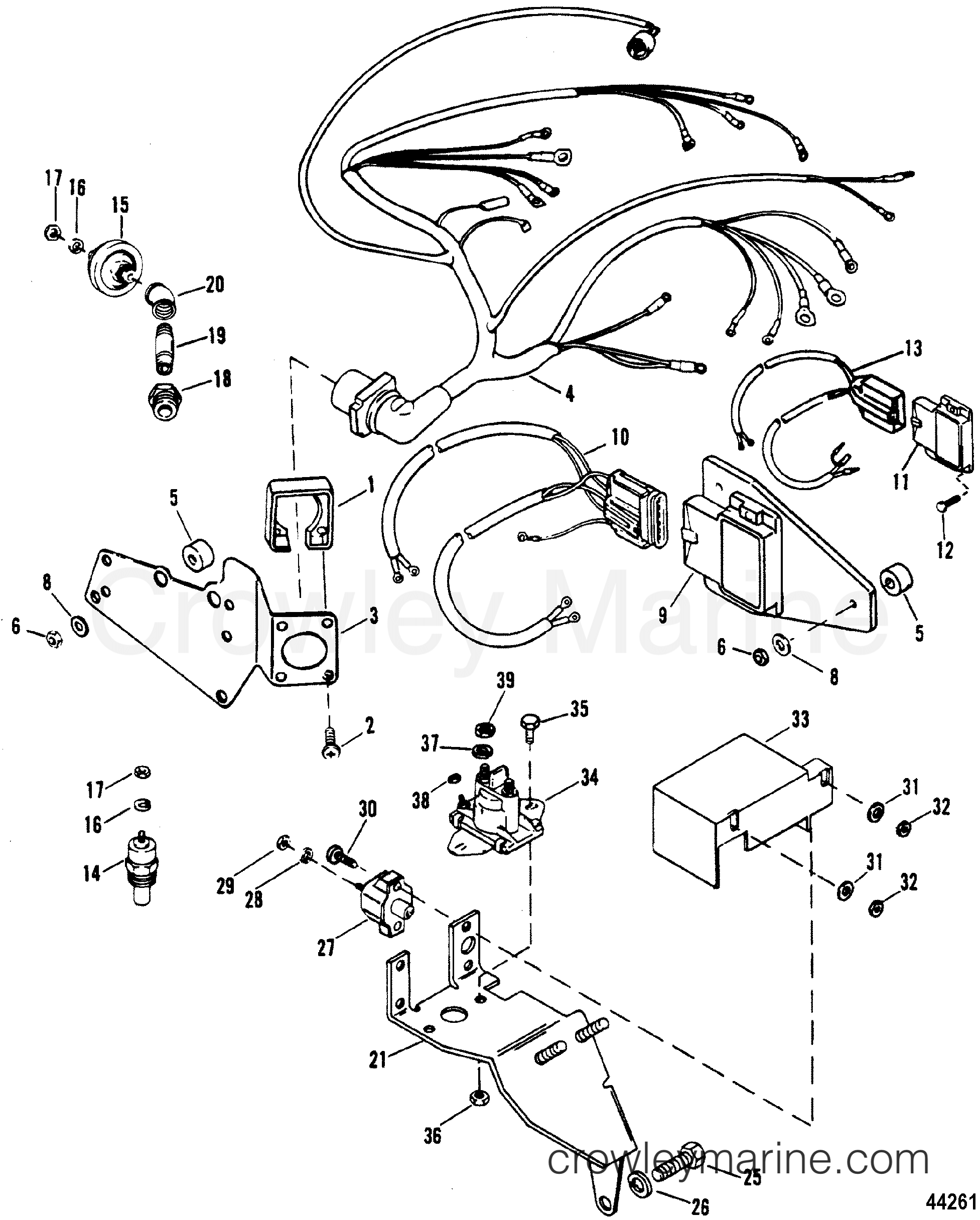 Mercruiser Thunderbolt Iv Ignition Module Wiring Diagram