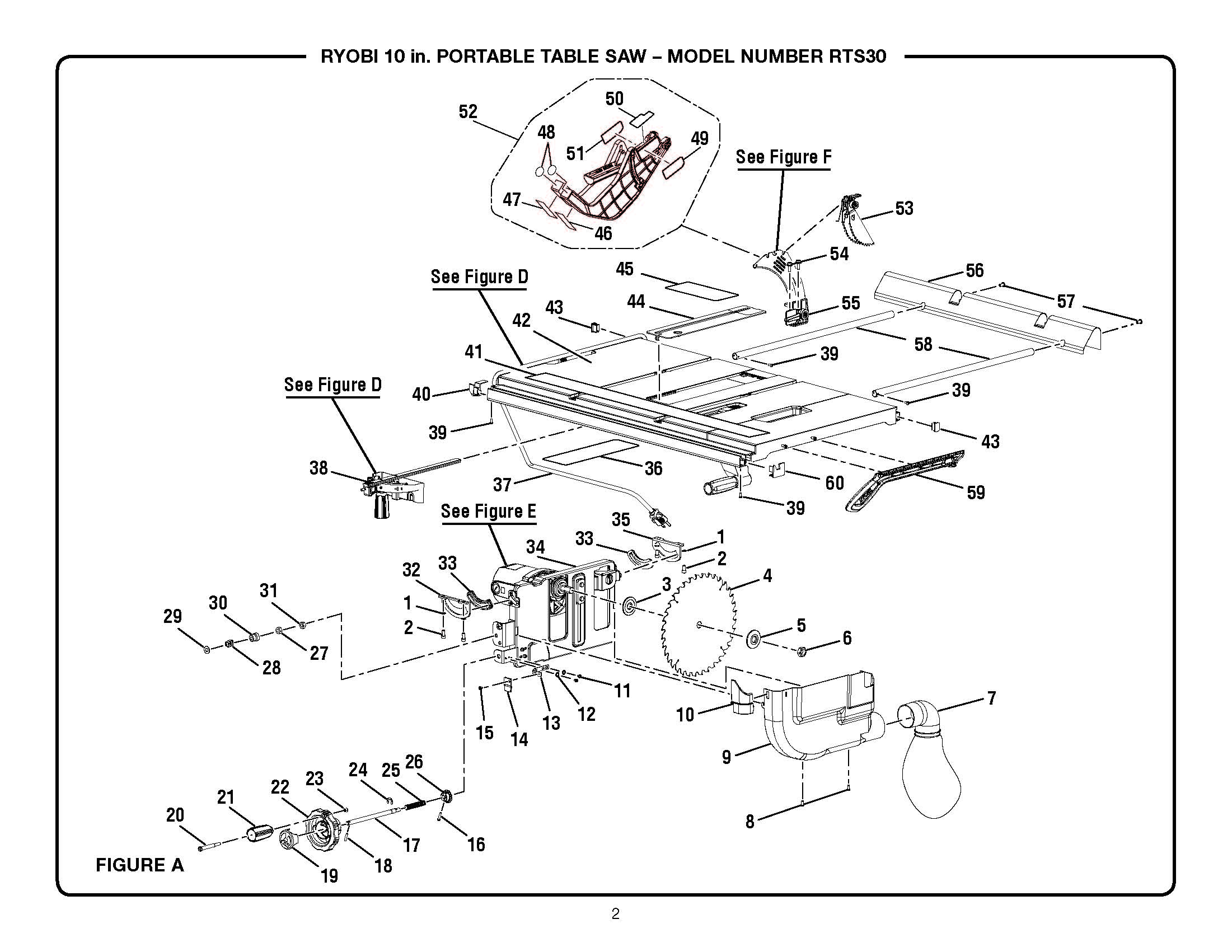 Ryobi Table Saw Switch Wiring Diagram