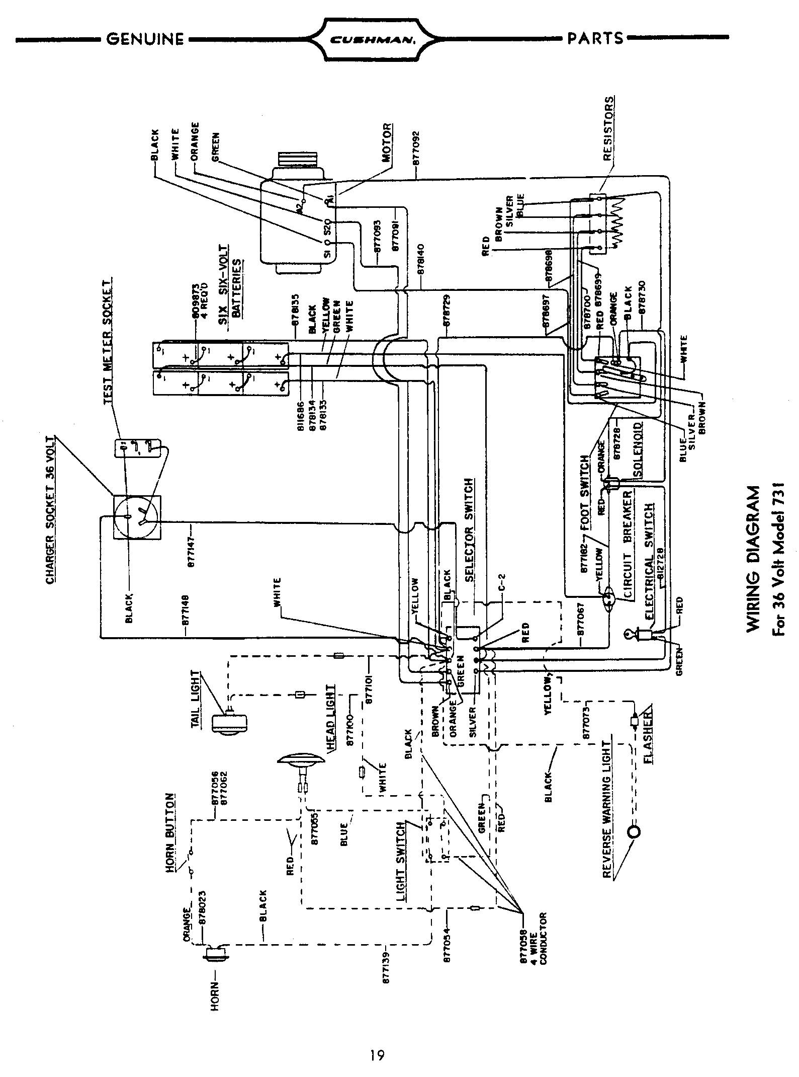 Wiring Diagram For Cushman A
