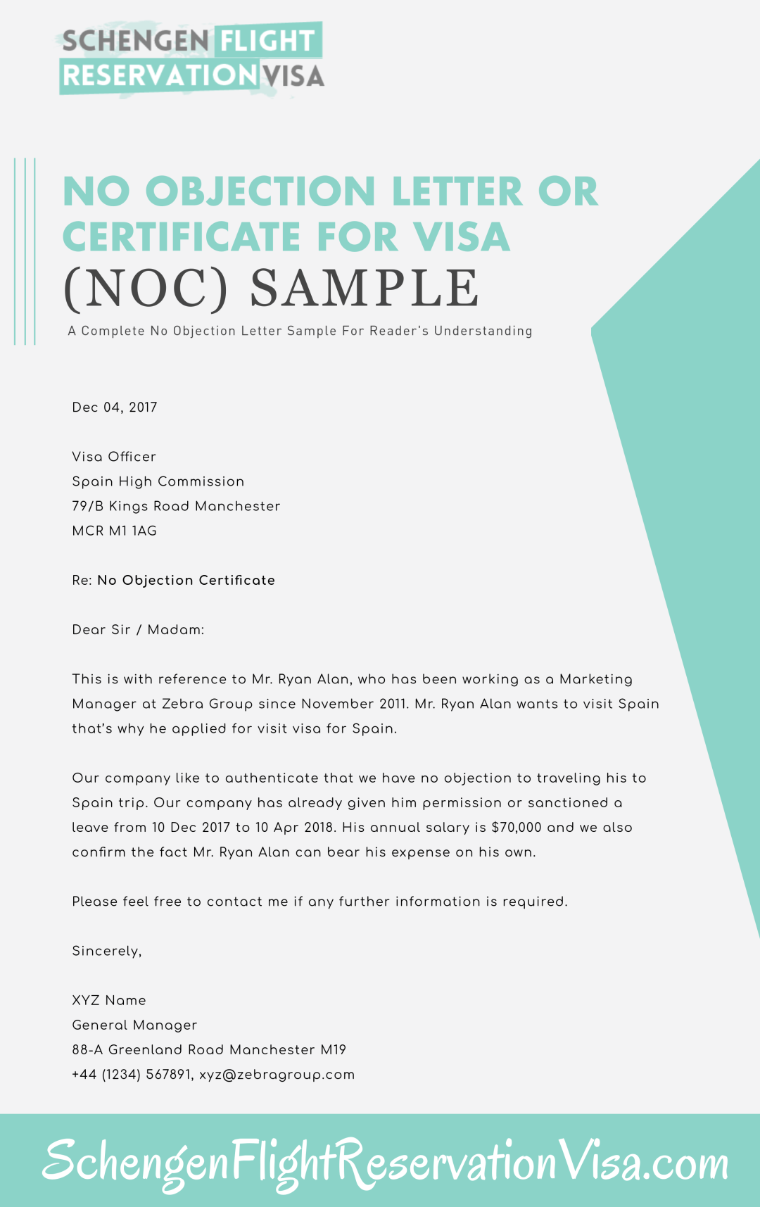 No Objection Letter Sample
