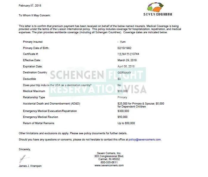 Travel Insurance For Visa Application