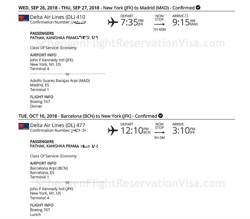 Delta Airlines Official Flight Reservation Sample - Travel Port Format