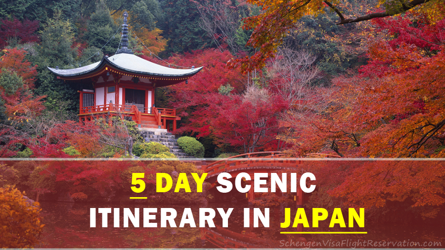 5 day scenic itinerary in japan travel and tours schengen travel