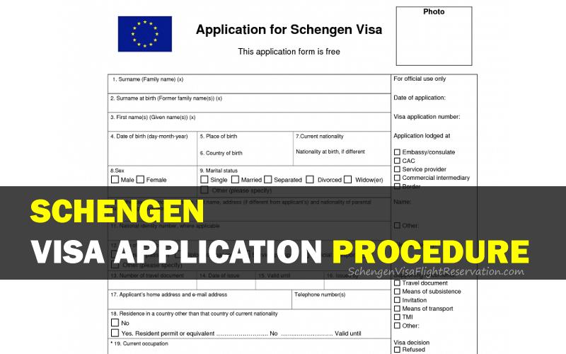 Schengen Visa Application Procedure
