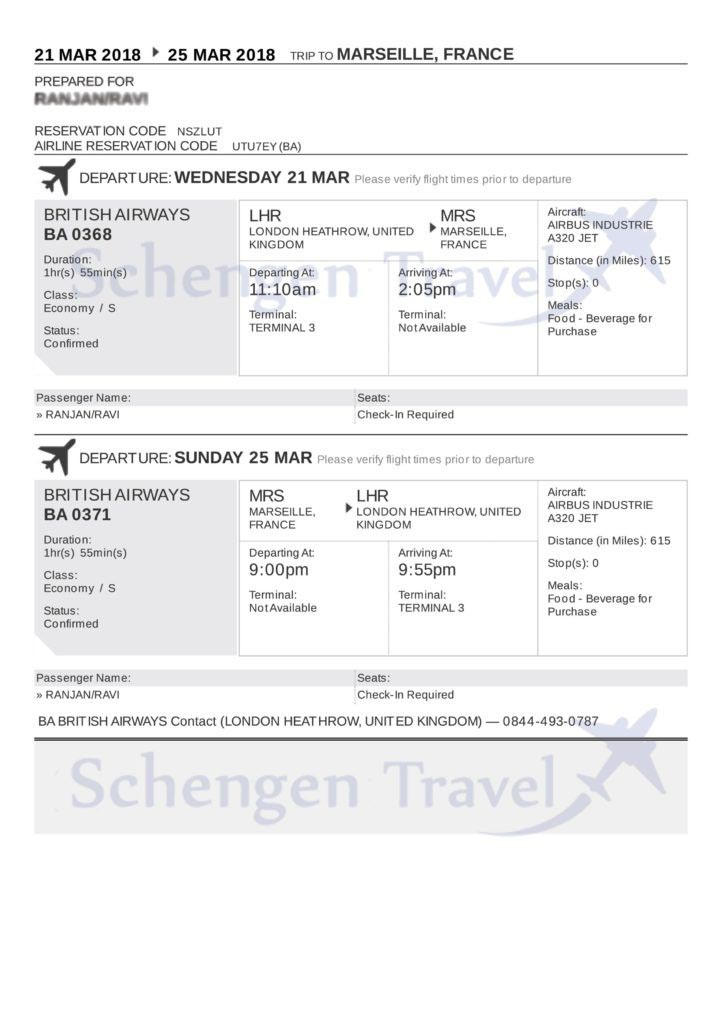 Know the Importance of Travel Itineraries or Flight Reservation for visa application