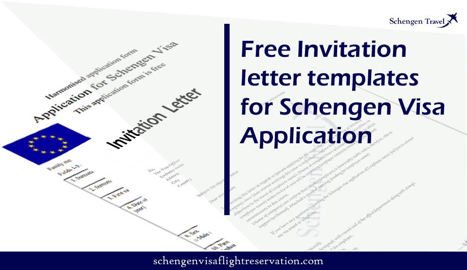 Invitation Letter for Schengen Visa – Free invitation letter templates for Schengen visa
