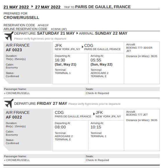 Flight Reservation for Visa or Flight Itinerary for Visa (for worldwide visa Applications)