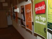 Galerie der Selbstdarstellungen von Umsonstläden (Sammlung von Flyern und Postern)