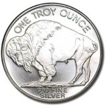 one ounce silver round buffalo coin