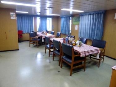 Speisesaal für die Mannschaft