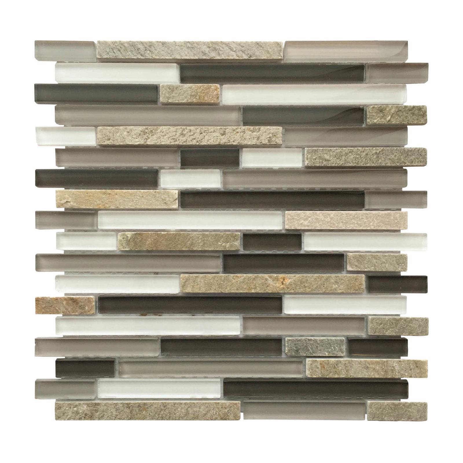 al2304 slate stone gray glass linear 12 x 12 mosaic