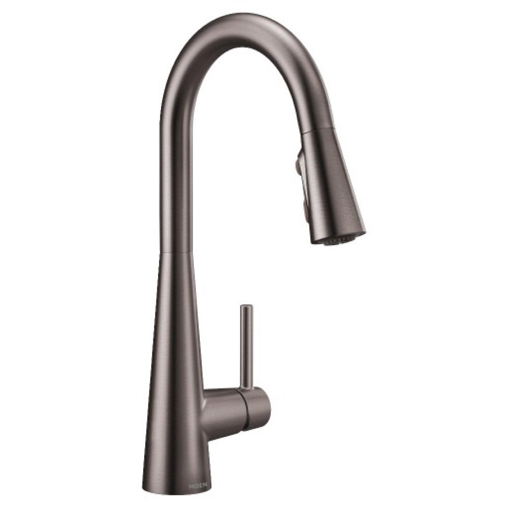 moen sleek kitchen faucet black stainless 7864bls