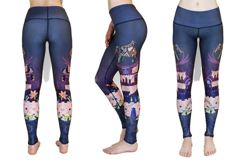 re3 henna elephant leggings