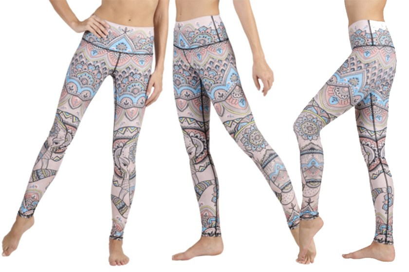 yoga democracy mystic elephant leggings schimiggy