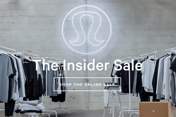 lululemon insider online warehouse sale