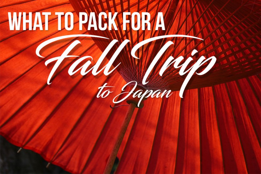 what to pack for trip to japan