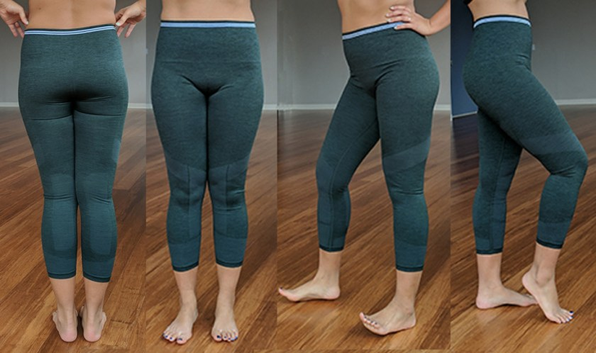 LNDR seven eight leggings dark green marl yoga pants
