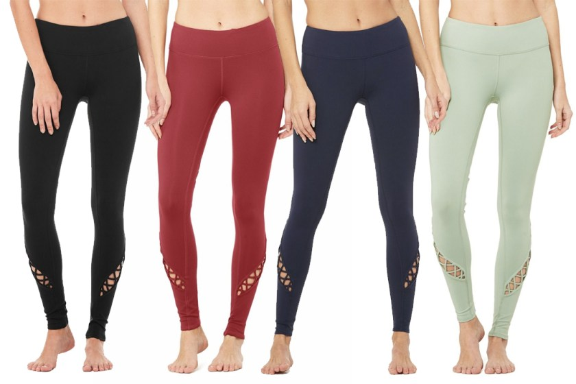 alo yoga entwined leggings review schimiggy