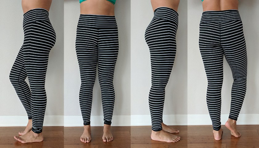 athleta high rise chaturanga stripe leggings try on schimiggy