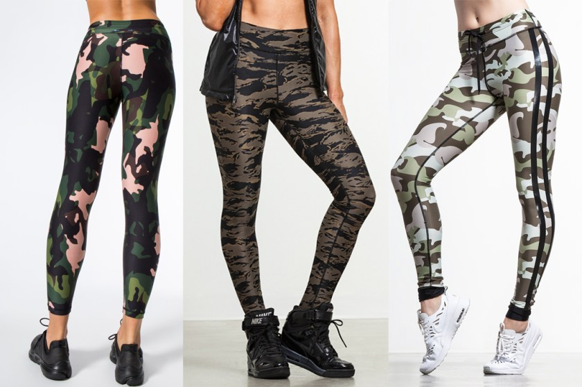 the upside camo printed leggings