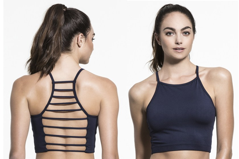 chill by will alive strappy back high neck bra schimiggy