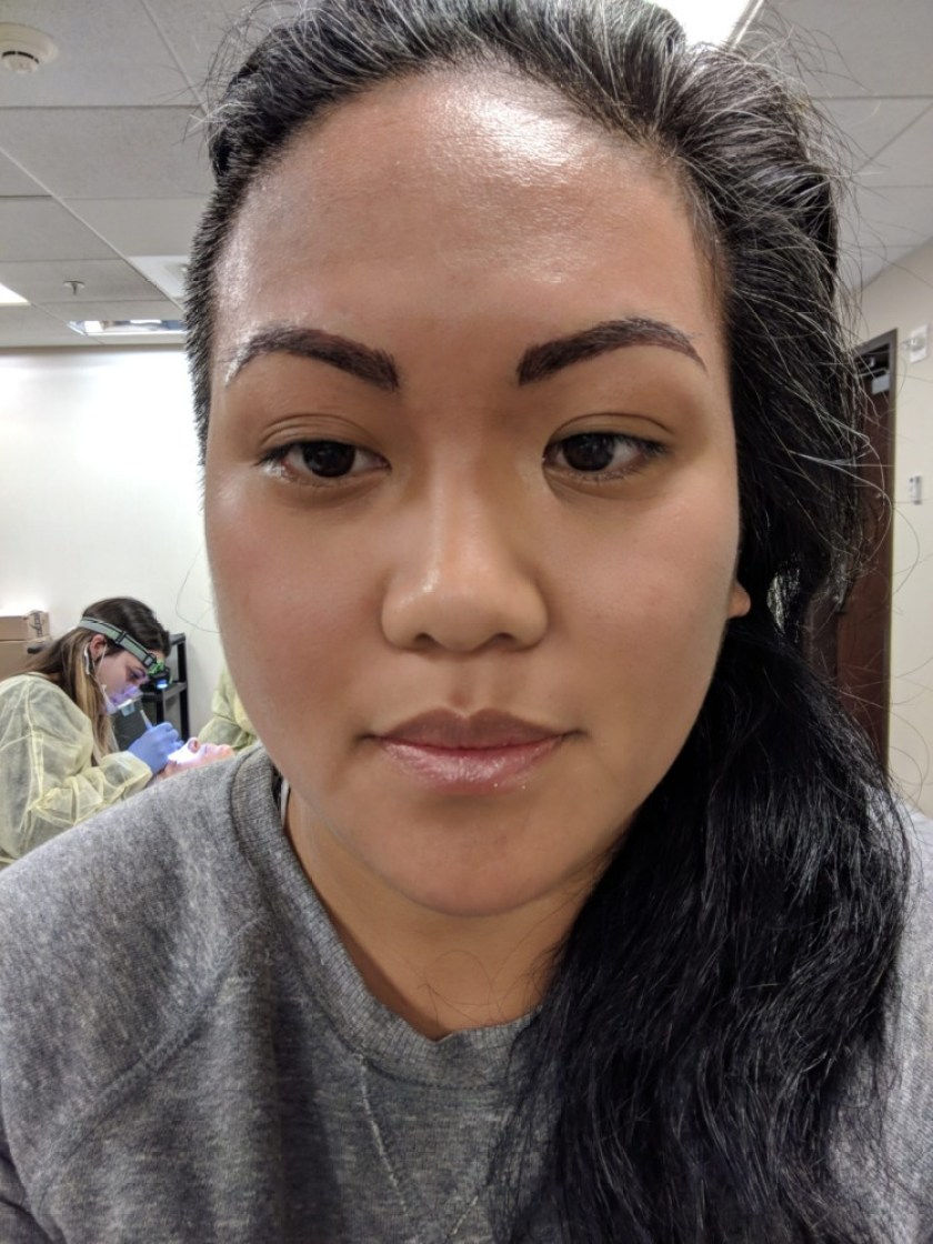 microblading procedure immediately after schimiggy reviews