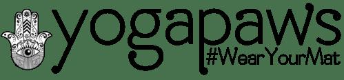yoga paws logo mat