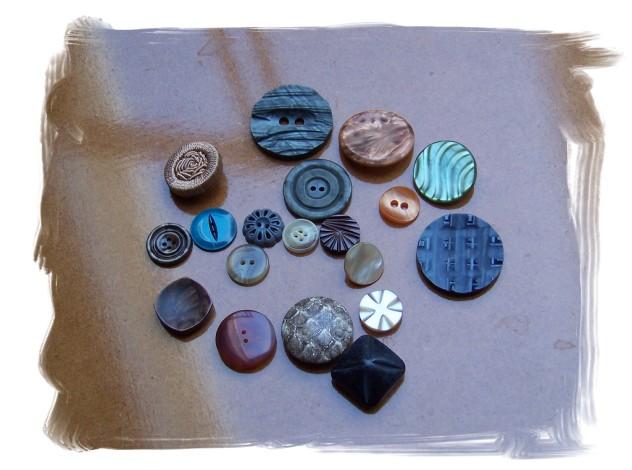 Et udvalg af mine nye knapper