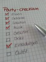 Schlagerparty Checkliste