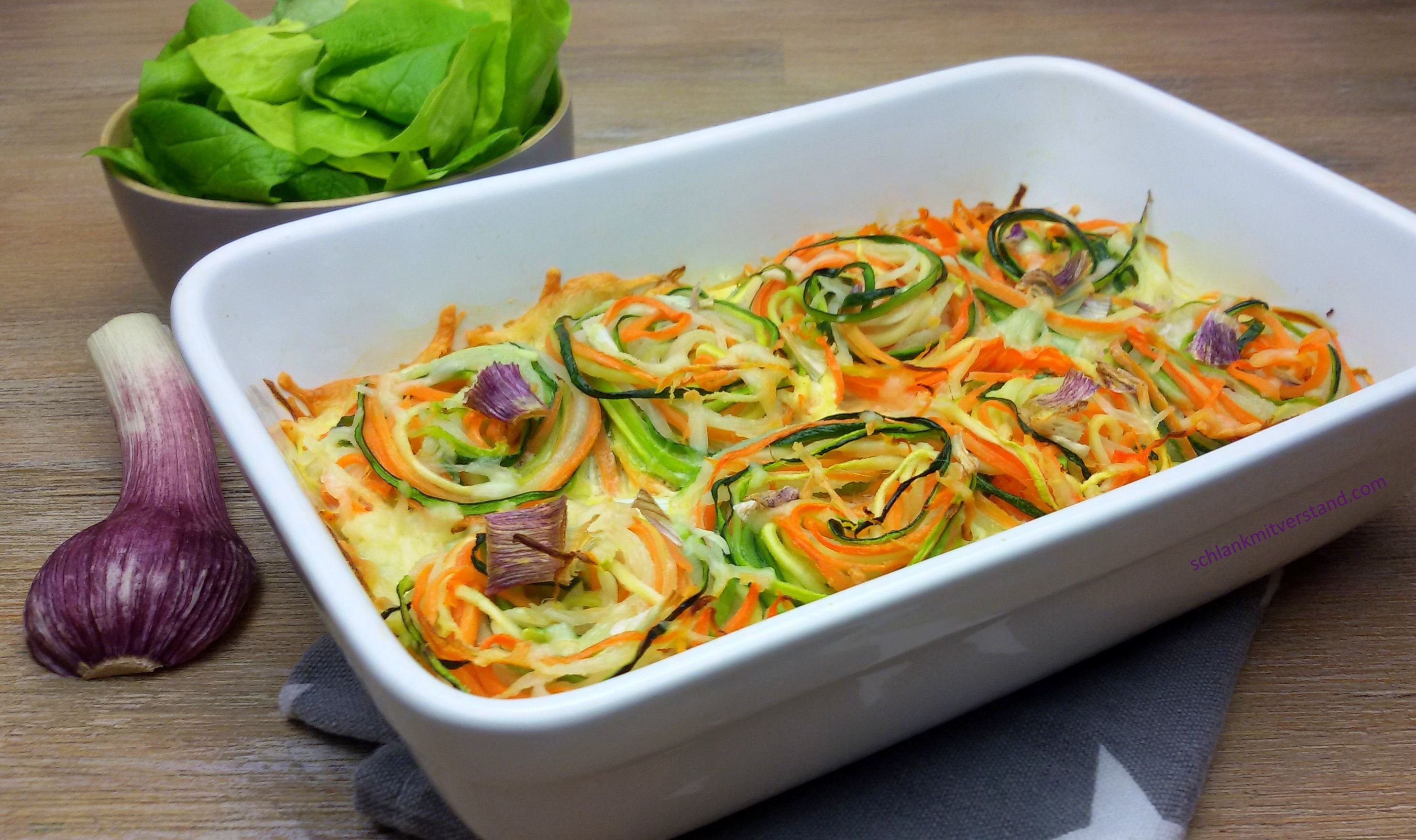 low carb Gemüsenudel-Auflauf