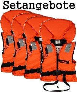 4 Rettungswesten aus der Bootskiste ~ Größe wählbar 15 bis über 90 Kg -