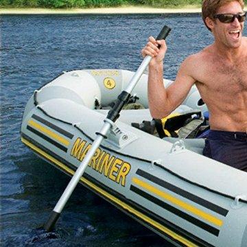 Intex Bootzubehör Kayak-Paddel Set (Alu/Kunststoff), Schwarz, 122 cm / 2-teilig -