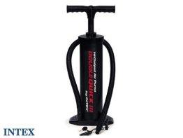 Intex Luftpumpe Handpumpe Kolben Doppelhub Pumpe inkl. 4 Düsen -