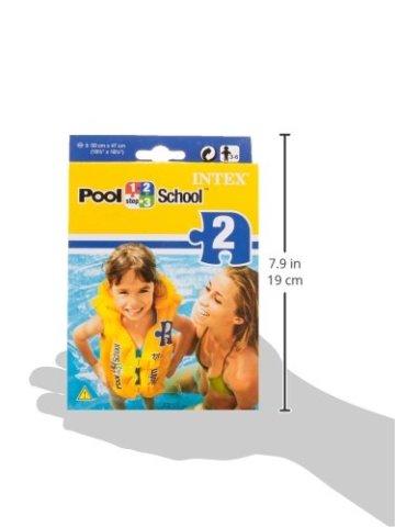 Intex Schwimmhilfe Schwimmweste Deluxe Pool School, Gelb -