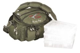 Iron Claw Buddy Bag / Angeltasche inkl. 3 Tackleboxen -