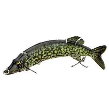 """Lixada 8""""/ 20cm 66g Angeln Köder harte Köder Multi gelenkartigen 8-Segment Pike Muskie Swimbait Crankbait Fisch Höhen Haken Tackle -"""