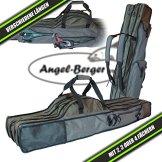 Luxus Rutentasche Rutenfutteral viele Modelle verschiedene Längen (4 Fächer 1.50m) -