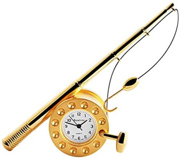 Royaltime Miniaturuhr - Angelrute - Größe 11,0 cm Uhr 300402000145 -