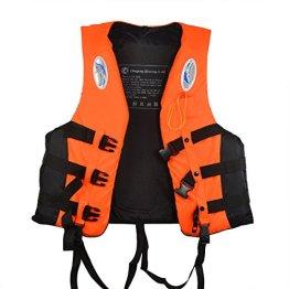Starcrafter Kinder und Erwachsene Schwimmweste Schwimmen,Angeln,Surfen und andere Wassersportarten verschiedene Gr??en und Farben(Orange Für 90-100kg) -