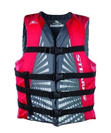 Stearns Erwachsene Schwimmweste Bekleidung, grau/rot, Gr. L -